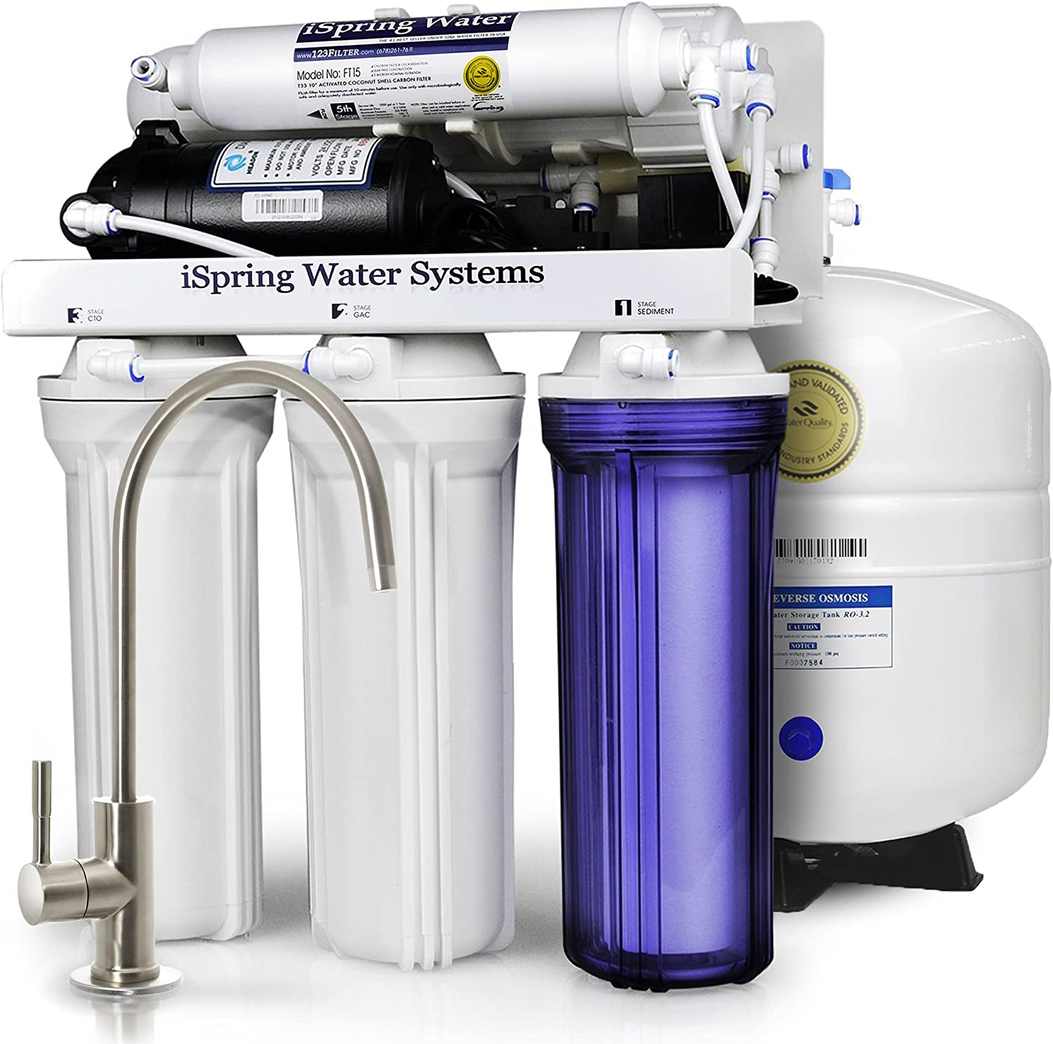 under sink 5 stage reverse osmosis system